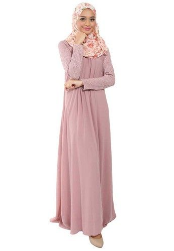 Maija Corded Lace Jubah From Poplook In Brown 1 Jubah Outfits