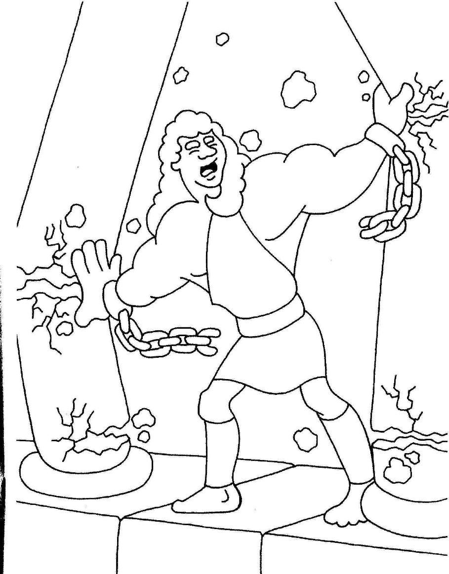 Mfw 1 Wk 24 Wednesday Samson Sunday School Coloring Pages