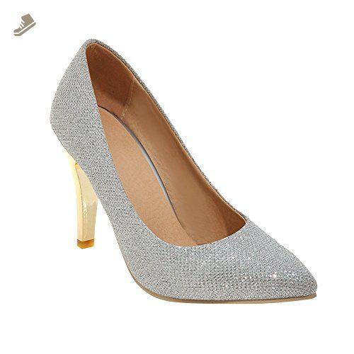 Latasa Women's Fashion Pointed-toe High Heels Dress Pumps (5, silver) - Latasa pumps for women (*Amazon Partner-Link)