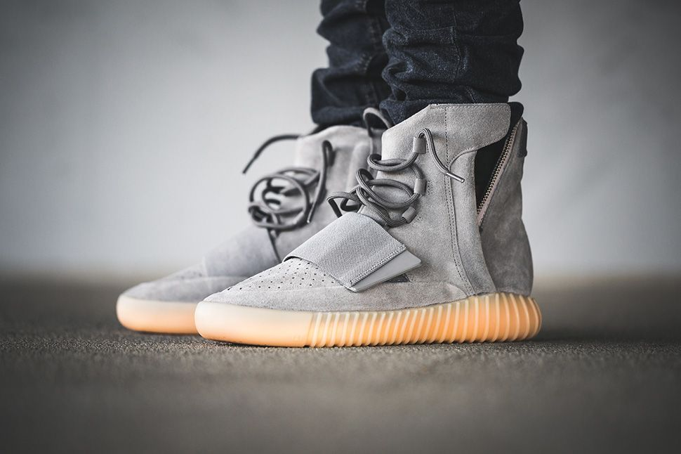 "0a9248d779bb2 adidas Yeezy Boost 750 ""Grey Gum"" On-Foot   Detailed Pictures - EU Kicks   Sneaker Magazine"