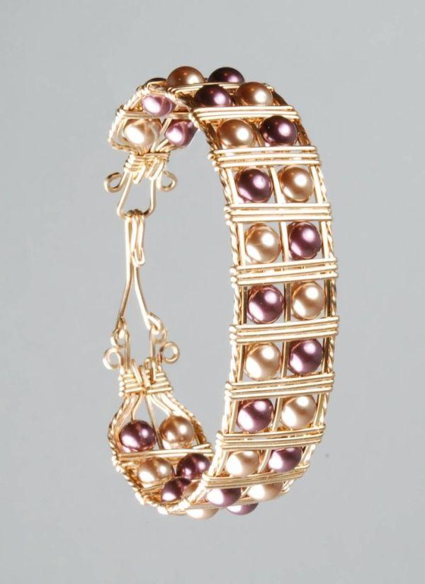 Free Wire Wrap Jewelry Patterns | Wire Wrapped Cuff Bracelet ...
