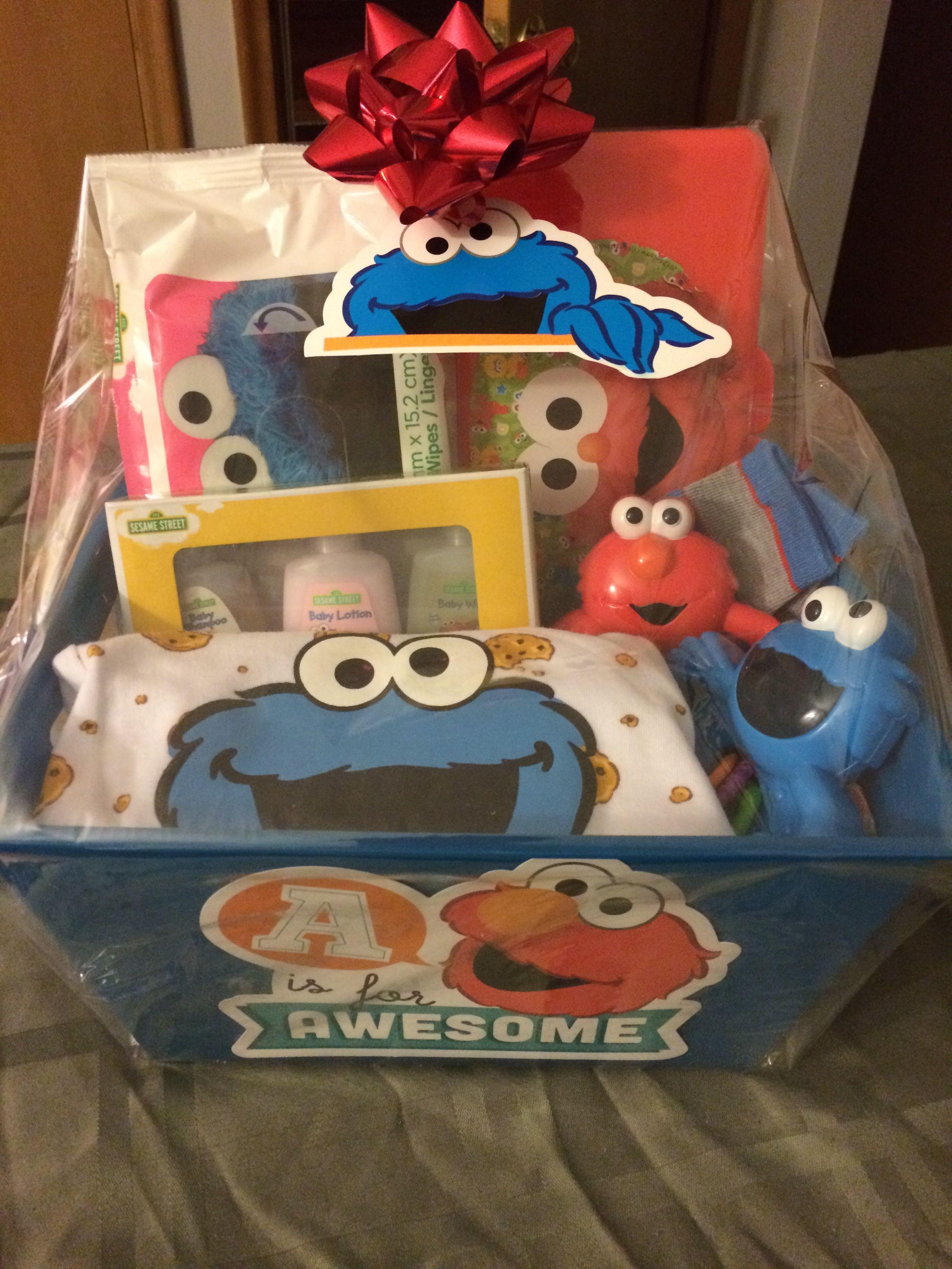 Diy Sesame Street Baby Gift Basket
