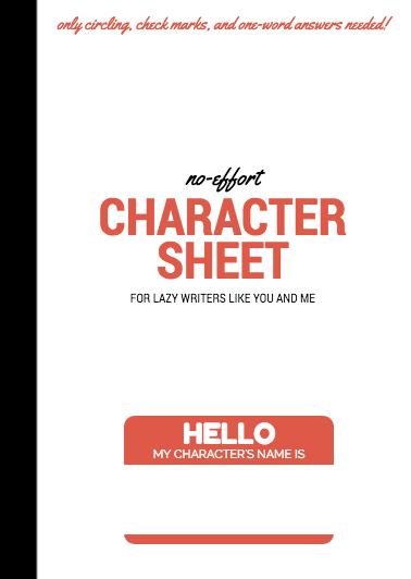 Character Design For Writers : Justsomecynic from the makers of no effort character