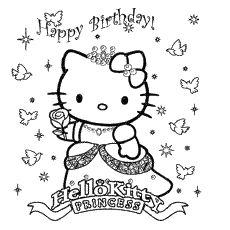 Happy Birthday Coloring Pages Free Printables Hello Kitty Coloring Hello Kitty Colouring Pages Kitty Coloring