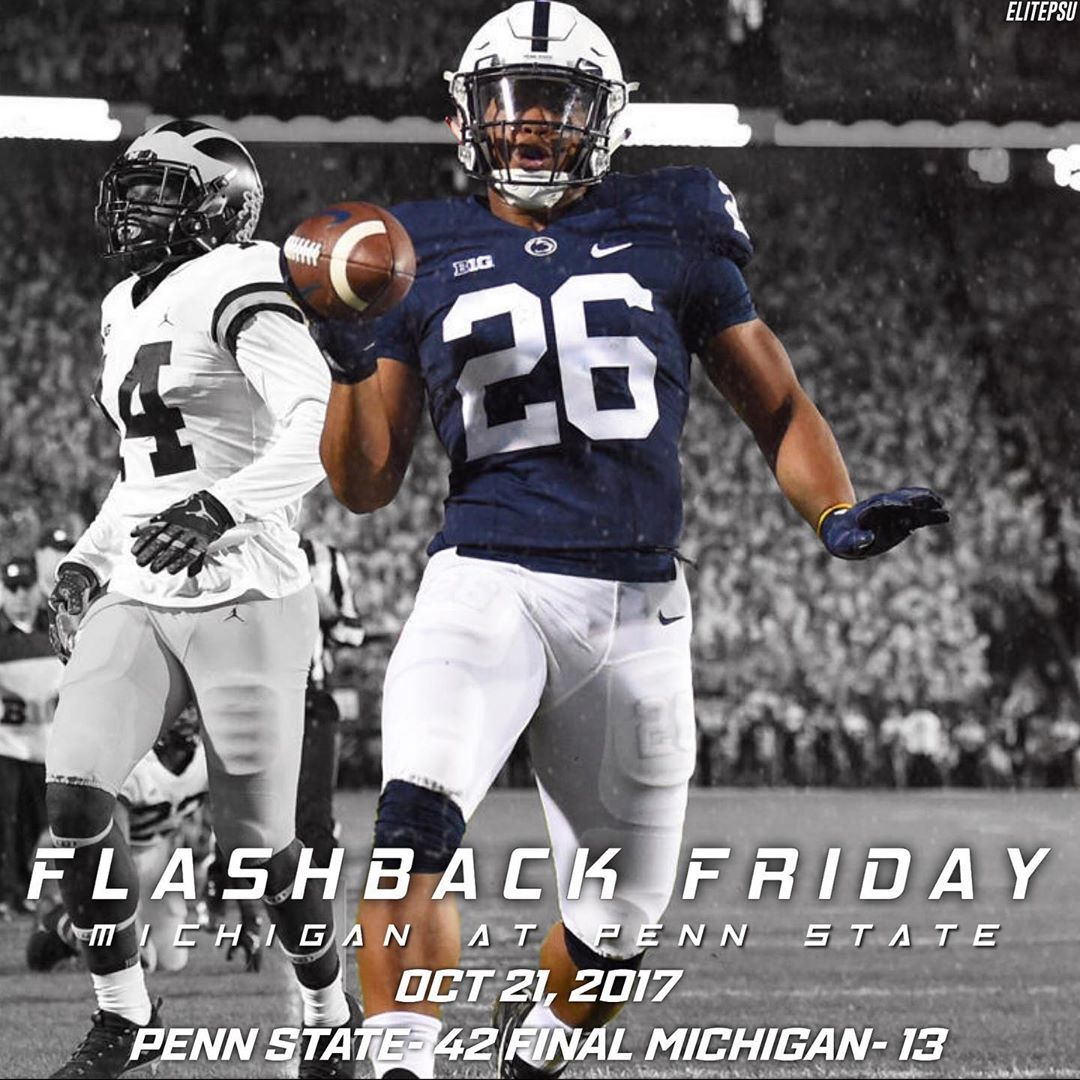 Penn State Football Fan Page On Instagram Flashback Friday October 21st 2017 Penn State Gets A Dominating Re In 2020 Penn State Football Football Football Fans