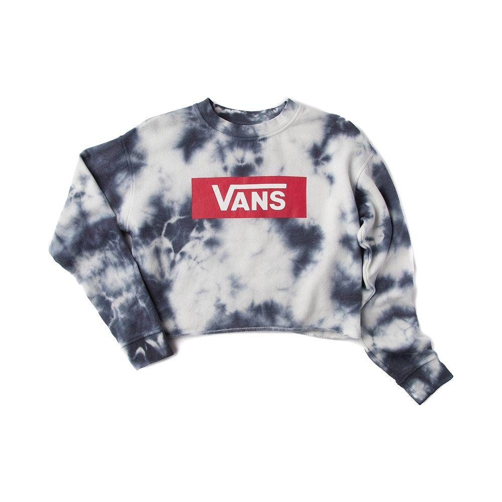 Womens Vans Sky Glow Cropped Crew Sweatshirt Blue White 50191 Vans Sweatshirt Sweatshirts Vans Sweater [ 1000 x 1000 Pixel ]