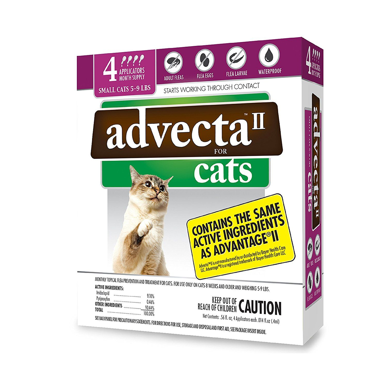 Amazon Advecta II Flea Treatment for Cats 5 9 lbs 4 Month