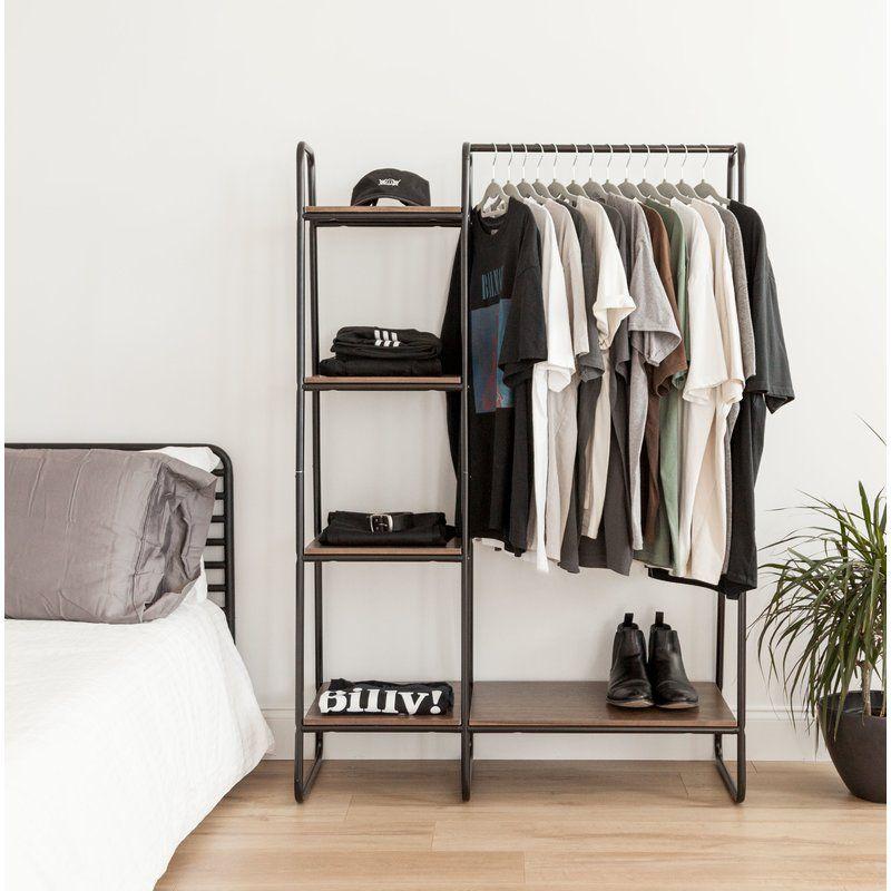 39 8 Metal Garment Rack No Closet Solutions Clothing Rack