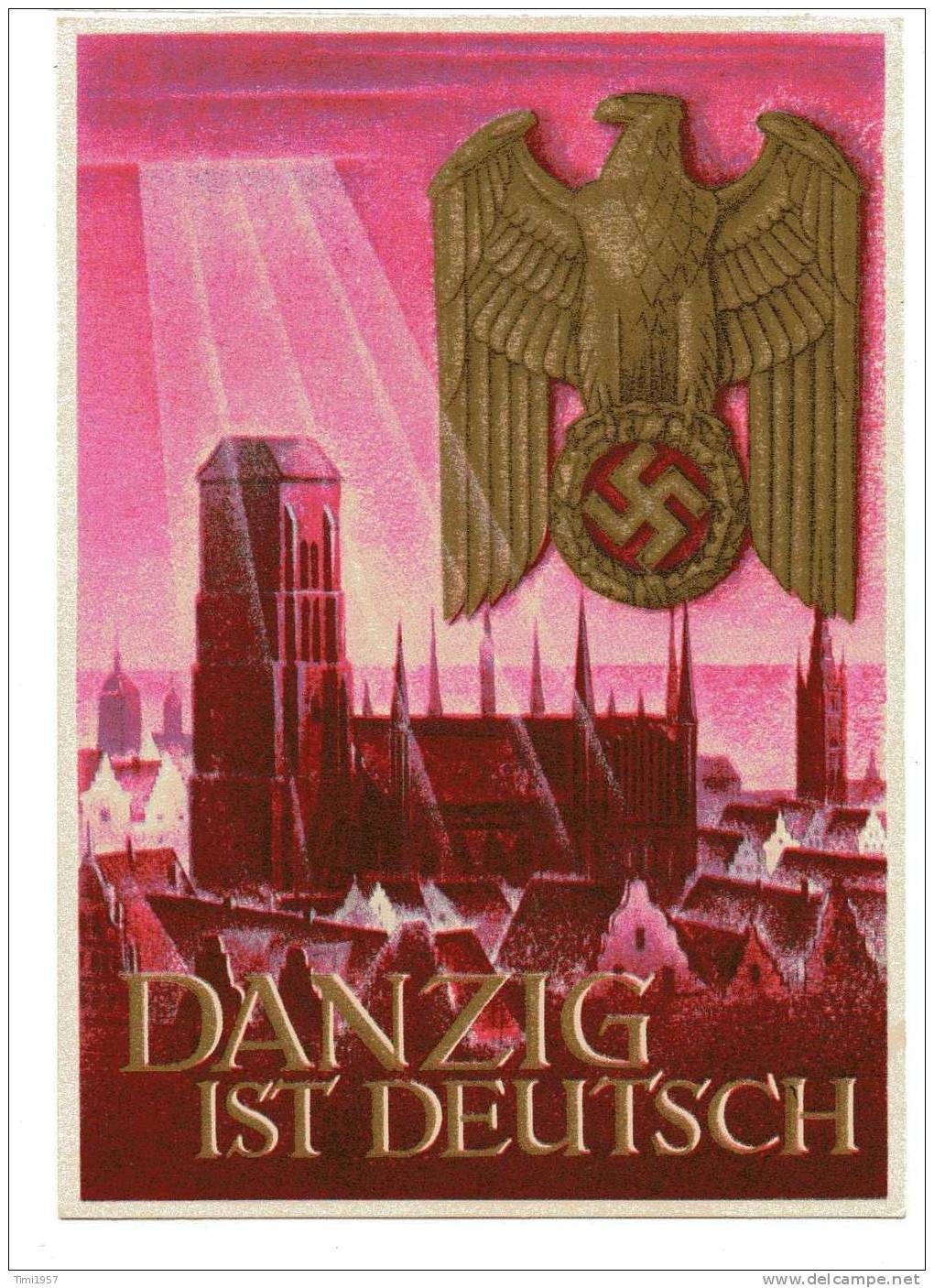 danzig ist deutsch this is a late 1939 postcard proclaiming that danzig is german danzig. Black Bedroom Furniture Sets. Home Design Ideas