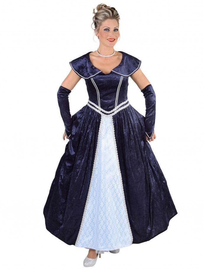 Kleid Marquise Damen blau 2-tlg   Kleider, Modestil ...