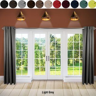 Instyledesign Premium Extra Wide Heavyweight Curtain 1 Panel Curtains 1 Panel Curtains Sliding Patio Doors