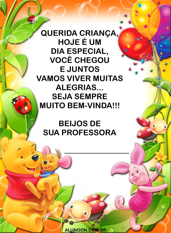 16 Cartoes De Volta As Aulas Do Ursinho Pooh Cartoes E Mensagens