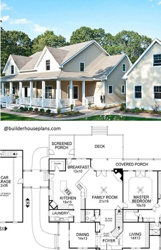 Best Modern Farmhouse By Award Winning Architectural Designer At Family Home Plans 4 Bed 3 5 Bath In 2020 House Plans Farmhouse House Plans Family House Plans