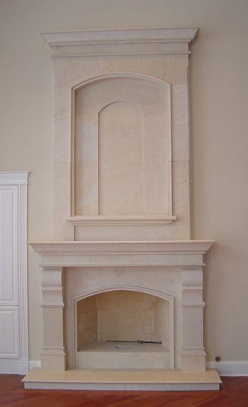 Stone Overmantel Fireplaces | Marble Over Mantels | Cast Stone ...