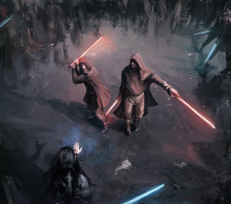 Are We Going To See A Massive Lightsaber Duel In Episode 9 Art By
