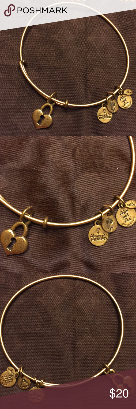 Alex And Ani Key To My Heart Gold Bangle Bracelet In 2018 My Posh