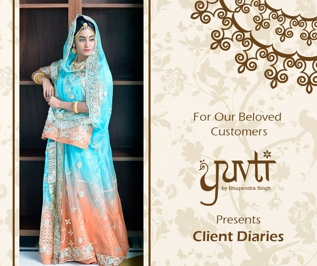Please send in your entries for Client Diaries and get flat 5% off on next purchase from Yuvti.Send your review with your photograph in Yuvti's poshak today!#discount #offer #review #Yuvti #rajasthaniposhak