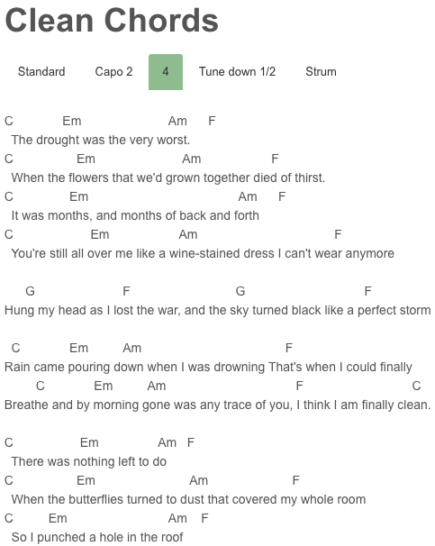 Clean Chords Taylor Swift | Taylor Swift | Pinterest | Taylor swift ...