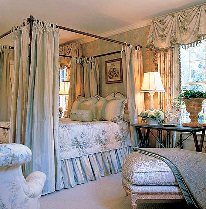 French Country Charles Faudree Designer Appear To Be My Bedroom Drapes On The Bed Hangings