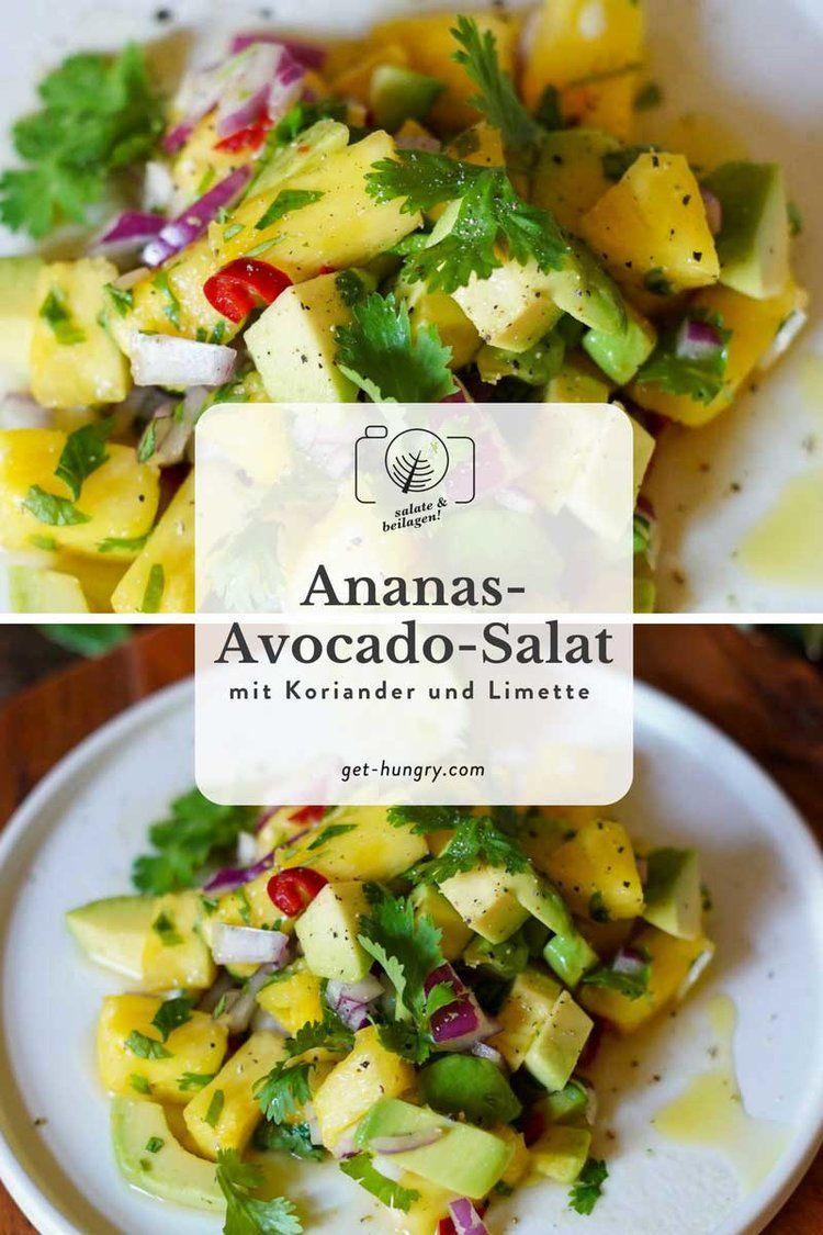 Ananas-Avocado-Salat mit Limettensaft