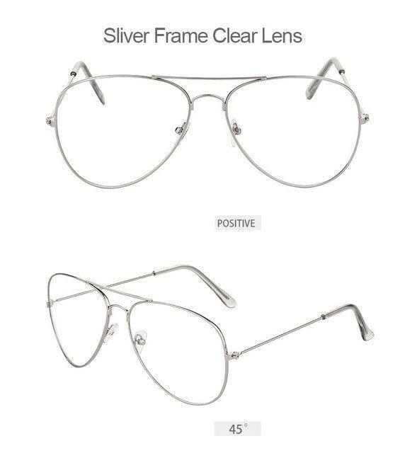 5e1058408876 Gold Clear Glasses Myopia Clear Frame Glasses Women Eyewear Men Spectacle  Frame Clear Lens Optical Aviator Glass Lunette Female