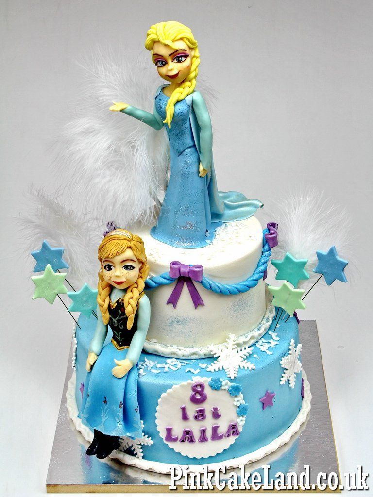 Frozen Birthday Cake with 10 Edible Figures Best Bespoke Cakes