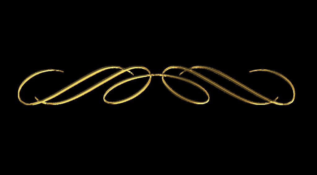 Free Scrapbook Craft Hobbies Hobby Embelishment Element Design Ornamental Decorative Divider Border Gold Clip Art Borders Scrollwork Clip Art