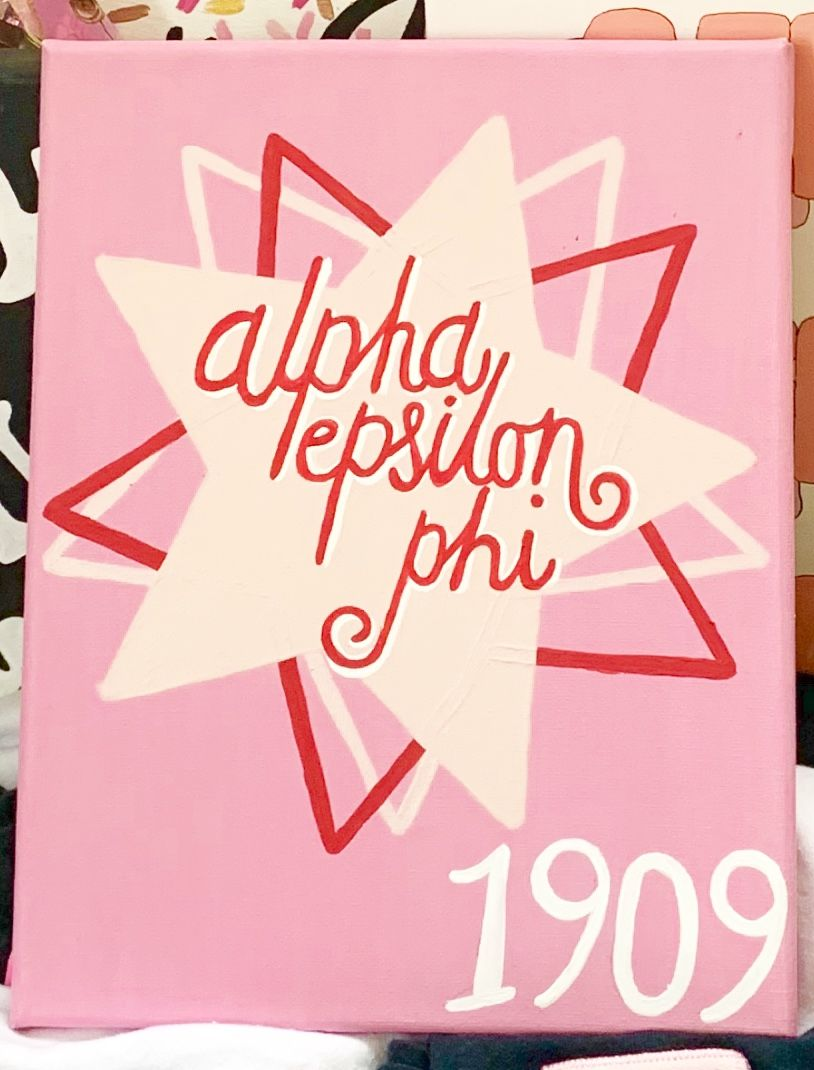 Alpha Epsilon Phi Sorority Canvas #biglittlecanvas