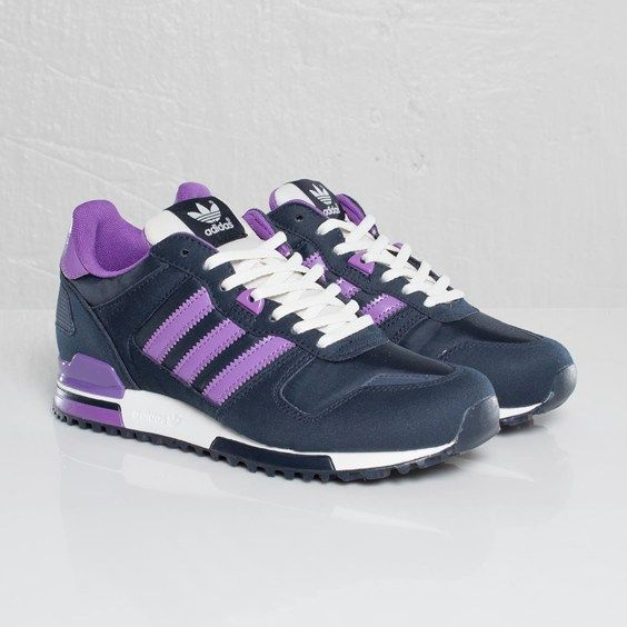 Adidas ZX 700 Womens G63272 Navy Violet Trainers