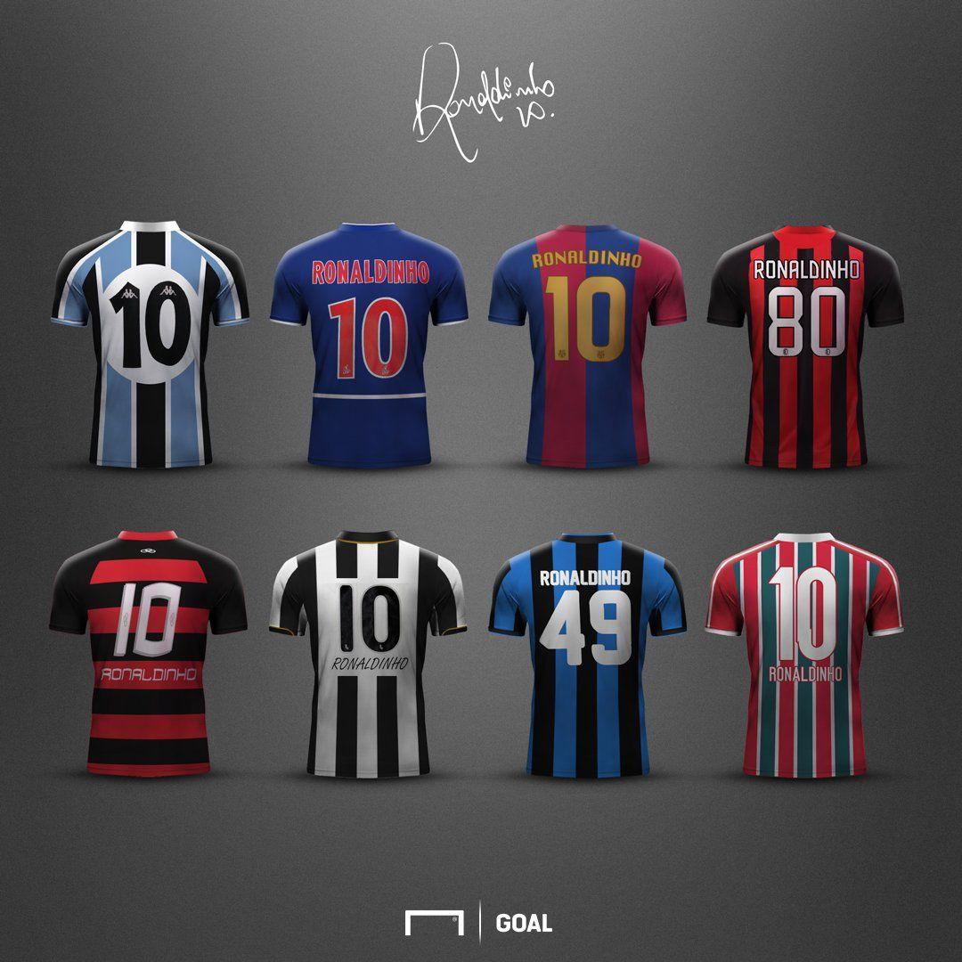 9b8995554b97a Las camisetas de Ronaldinho
