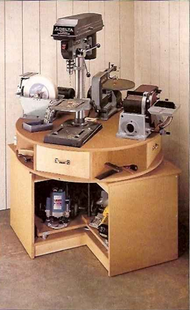 Rotating Tool Bench My Wood Shop Woodworking Projects