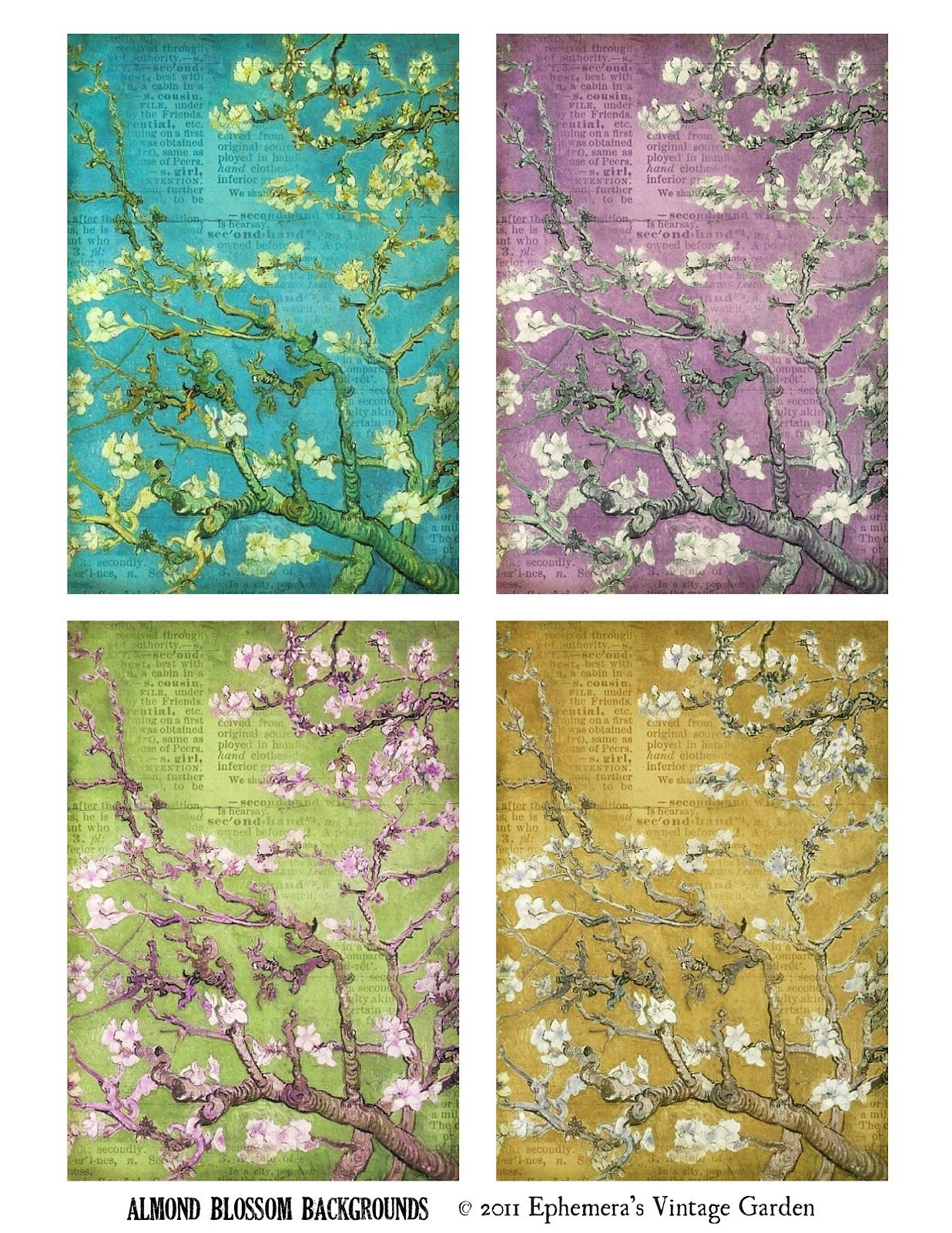 Ephemera S Vintage Garden Freebies Floral Backgrounds