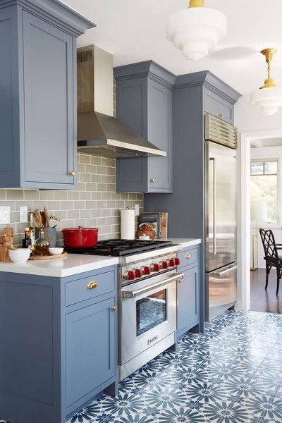 Trend Colors for Kitchens 2021 - Blue #interior #trends # ...