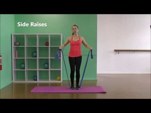 12 Minute Theraband Shoulder & Upper Back Strength | Rotator Cuff Exercises - Fitness - #Cuff #Exerc...