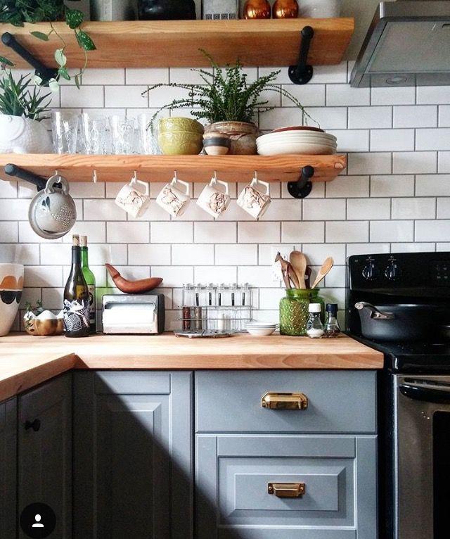 Minimal White Kitchen With Subway Tile Home Decor Inspiration Home Decor,  Home Inspiration, Furniture. Küchen IdeenIdeen ...