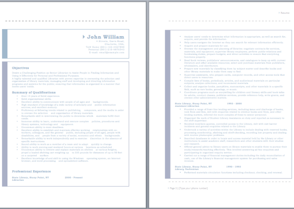 19 Free Librarian Resume Samples Teacher Resume Examples