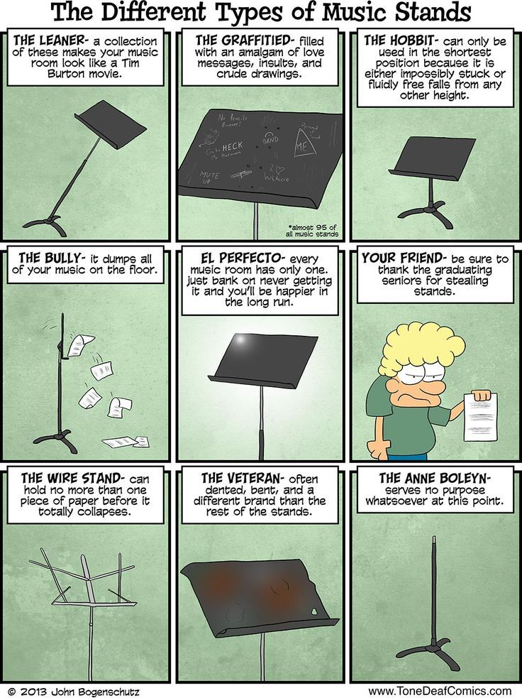 SO DAMN TRUE!!! Different Kinds of Music Stands - Tone Deaf Comics ...