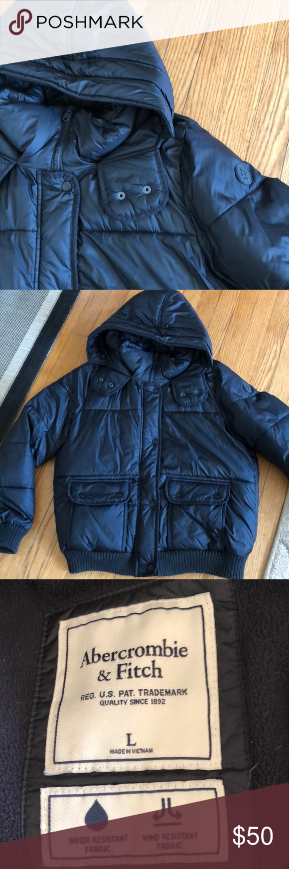 Abercrombie Puffer Jacket Abercrombie And Fitch Jackets Clothes Design Black Puffer Jacket [ 1740 x 580 Pixel ]