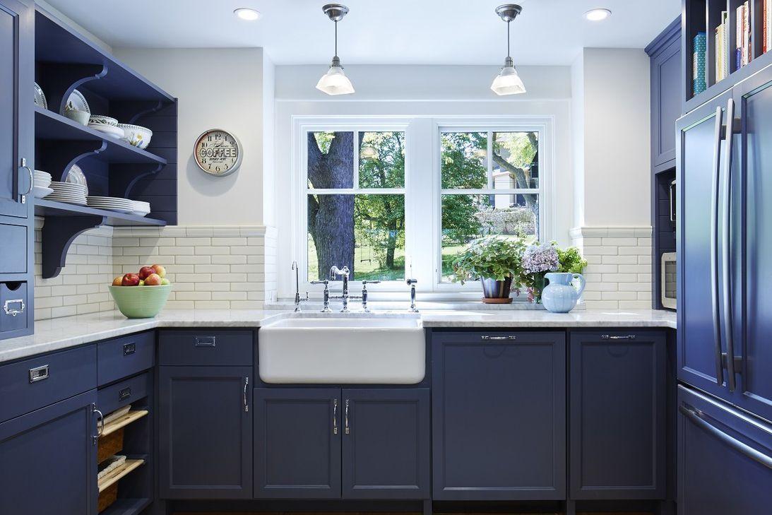 Add A Splash Of Beautiful Blue To Your Kitchen Cabinets Blue Kitchen Cabinets Kitchen Cabinet Design Blue Kitchen Designs