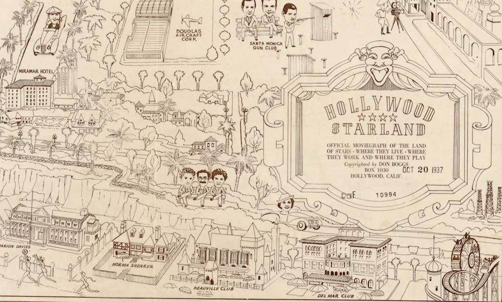 Here S What A Map To The Stars Homes Looked Like In 1937 Home