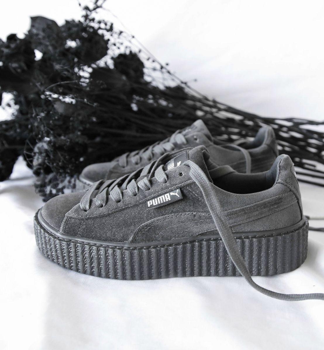 pumashoes #rihanna #creeper #velvet #fenty #suede #puma