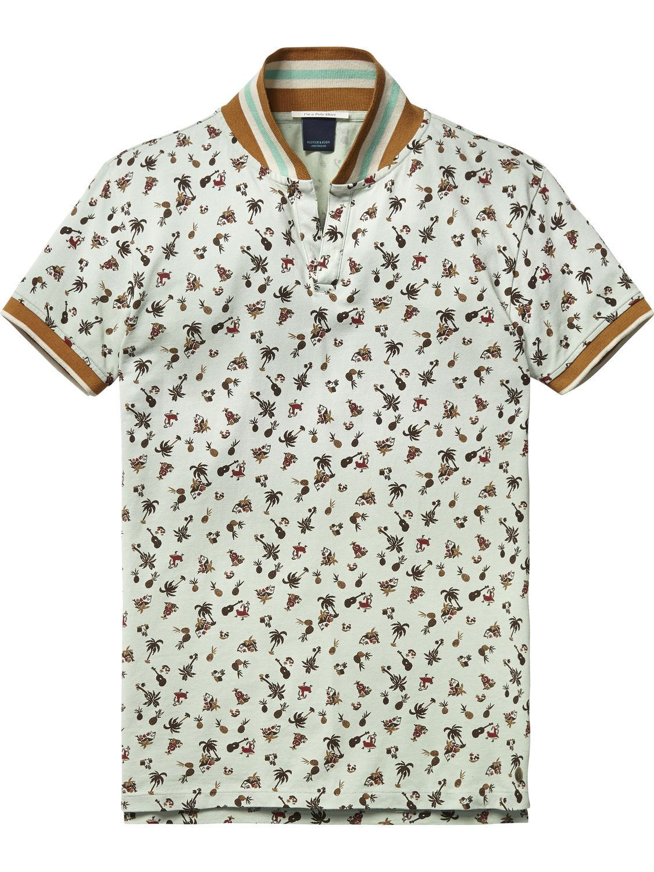 Poloshirt met retro-kraag  9c7ea54a5b018