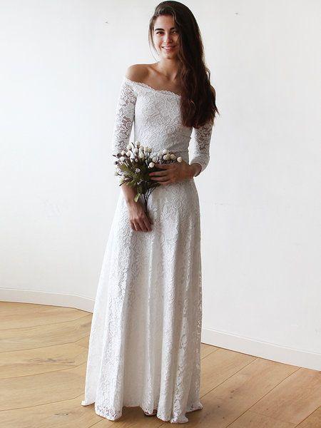 Ivory Off Shoulder Swing Elegant Lace Evening Dress   Evening ...