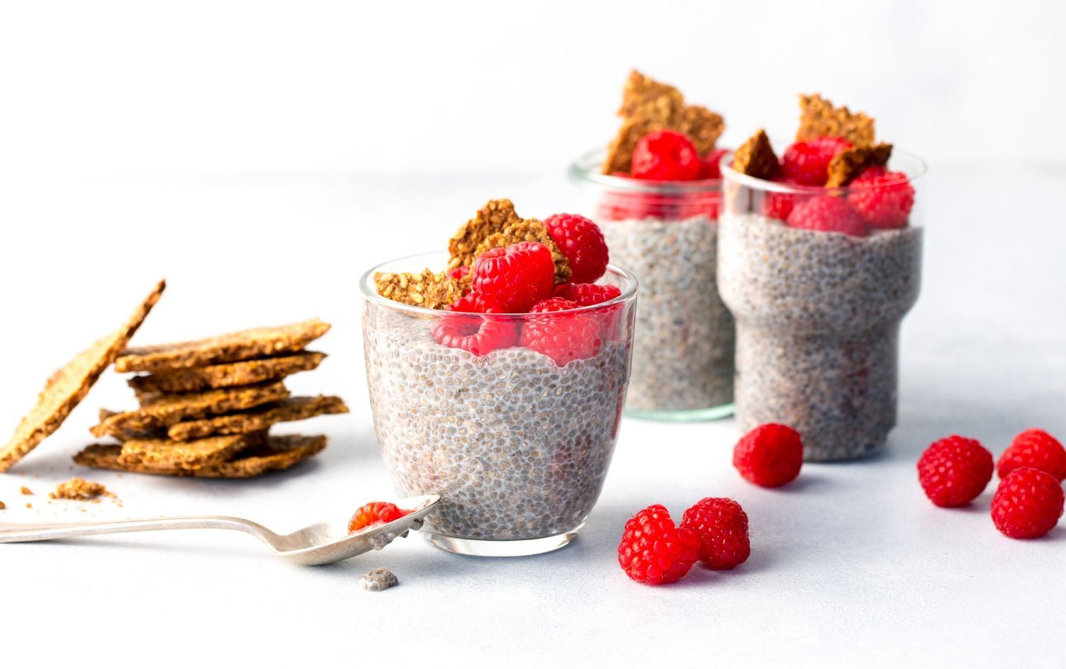 Chia Seed Pudding with Almonds and Raspberries Recipe