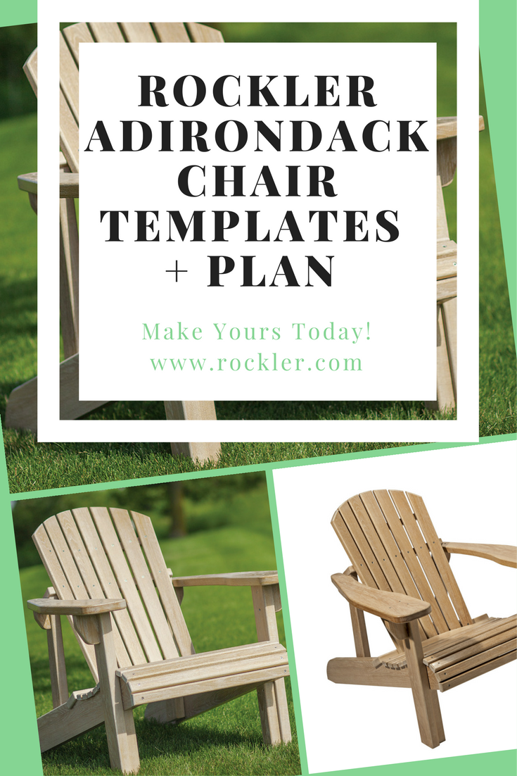 Adirondack Chair Templates with Plan and Stainless Steel Hardware ...