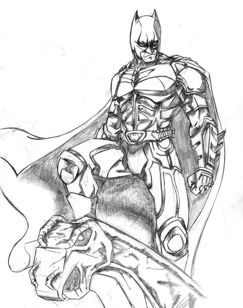 Batman Coloring Pages for Kids Free Batman Dark Knight