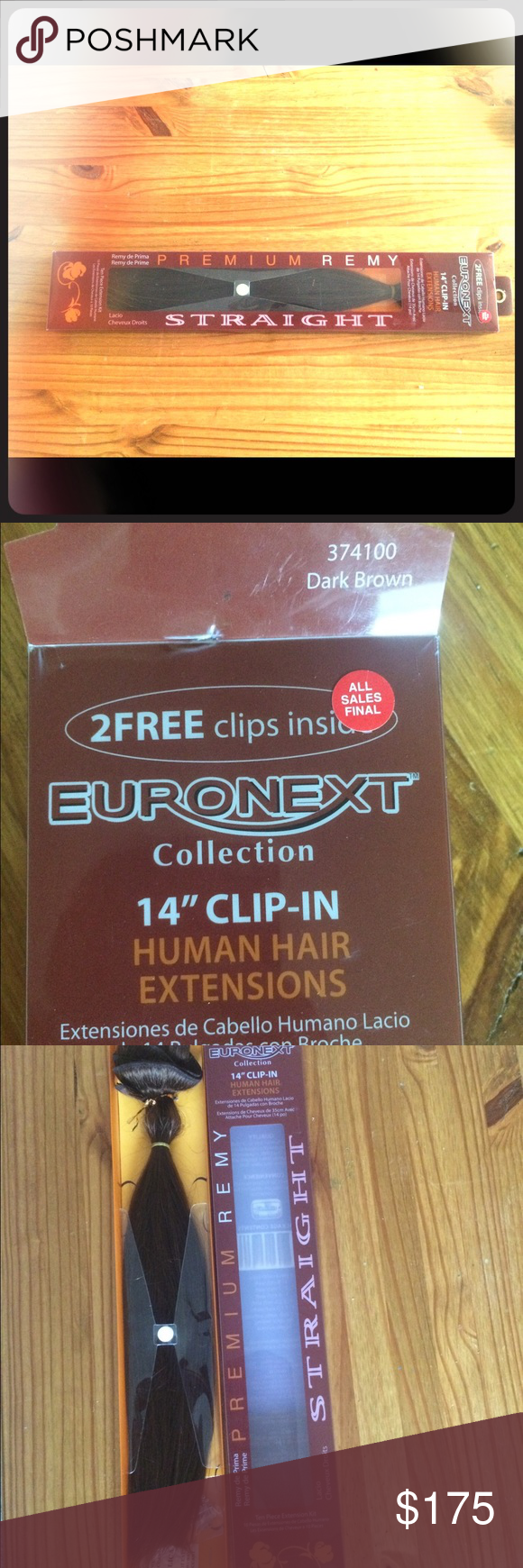 Euronext Hair Extensions New Euronext Dark Brown 14 Remy