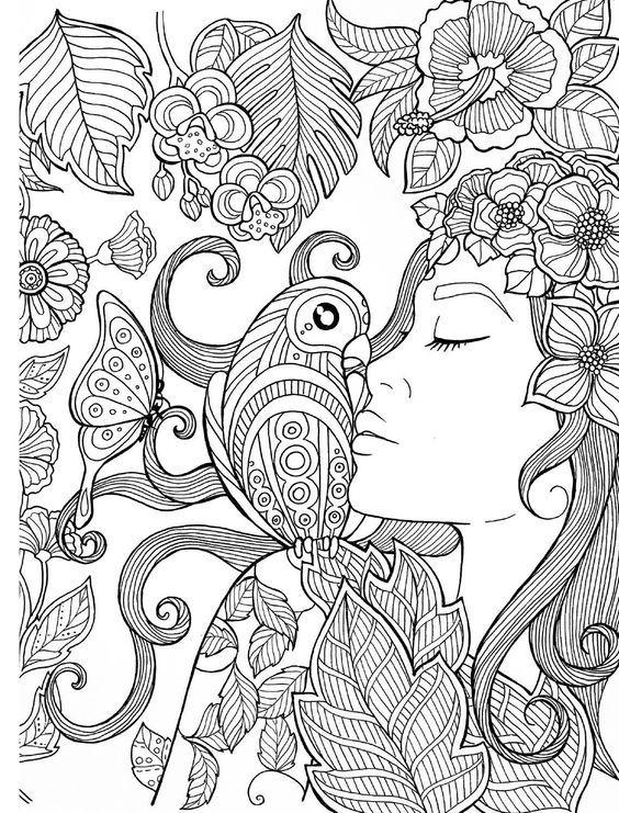 Раскраски антистресс для девочек | Раскраски, Книжка ...