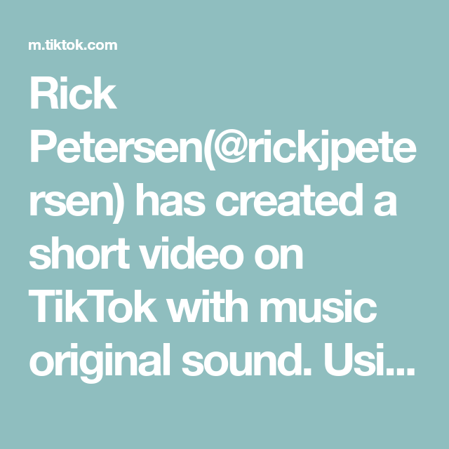 Rick Petersen Rickjpetersen Has Created A Short Video On Tiktok With Music Original Sound Using Soa Stand Up Comedians Panic At The Disco Funniest Stand Up