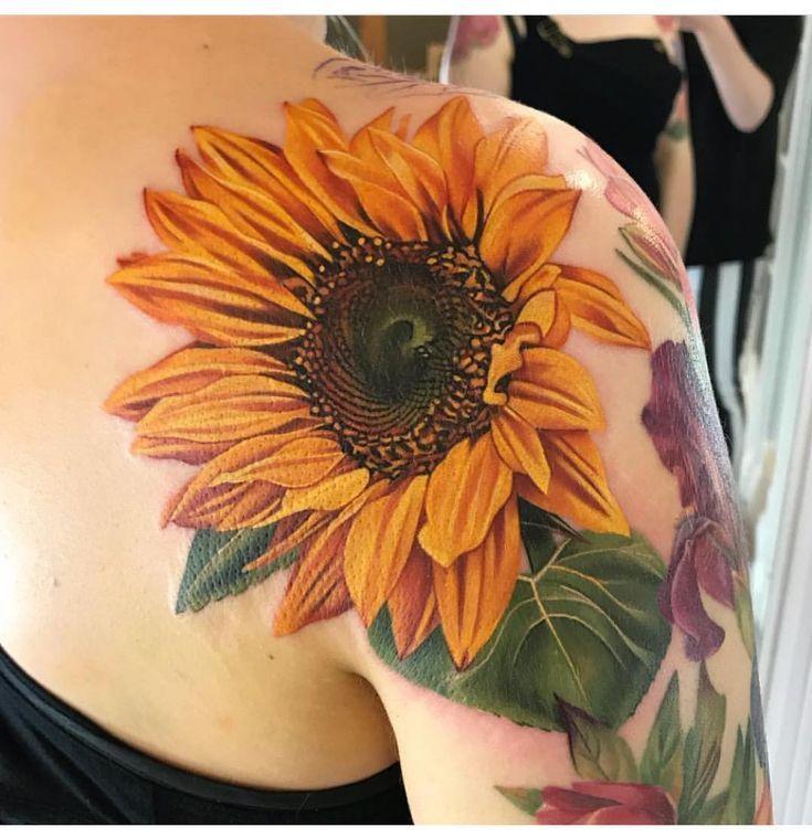 Photo of Ich liebe dieses Sonnenblumen-Tattoo von Connie Michelle Maddison 😊👍🏼 #tattoo #tat …,  #Con…